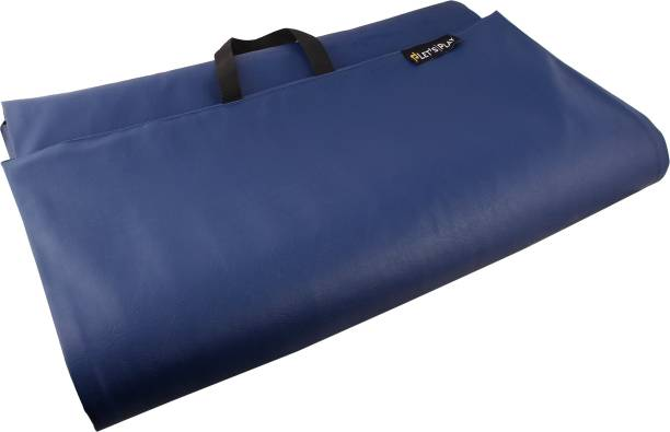 Fitness Guru Yoga Mat for Men & Women - Blue Polyester Yoga Strap
