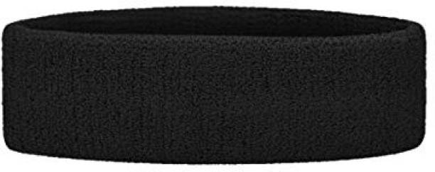SPORTSHOLIC Head Band Sweat Forehead Band Black Colour For Sports And Fitness Makeup Headband