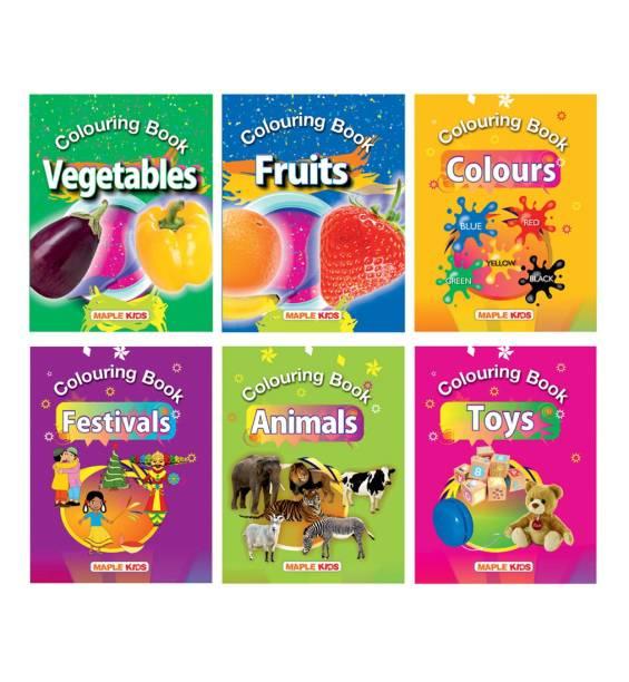 Colouring Books (Set of 6 Books)