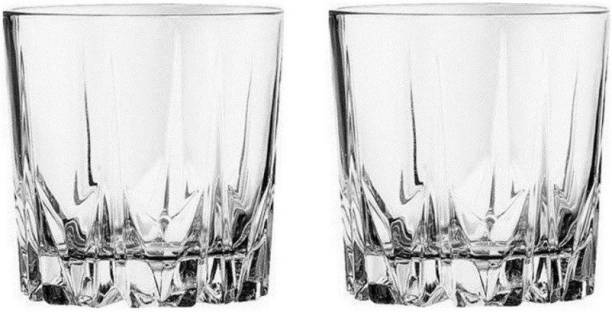 Cloudsell india (Pack of 2) Tumbler Wine and Whisky Glass, Set of 2 pcs., 300 ml capacity, Glass Set