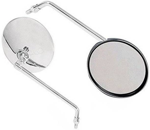 Pivalo Manual Rear View Mirror, Dual Mirror For Universal For Bike Universal For Bike