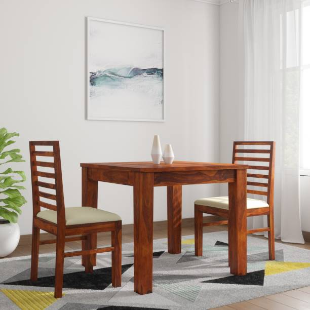 eb6f85e458 The Attic Morocco Upholstered Sheesham Solid Wood 2 Seater Dining Set