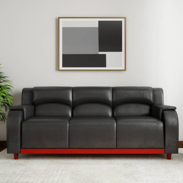 KURLON Hayden Leatherette 3 Seater  Sofa