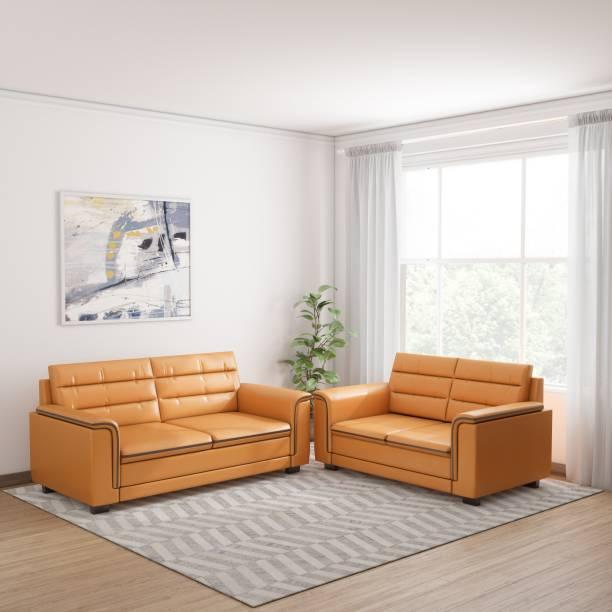 KURLON Cara Leatherette 3 + 2 Beige Sofa Set