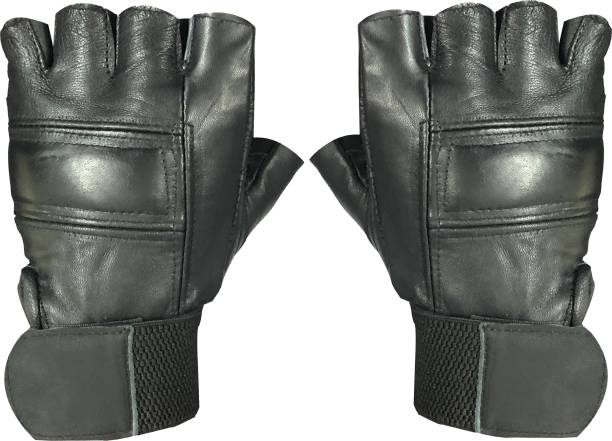 a0a978db2953 JMO27Deals Exercise Weight Lifting Leather Padding Gym   Fitness Gloves  (Free Size