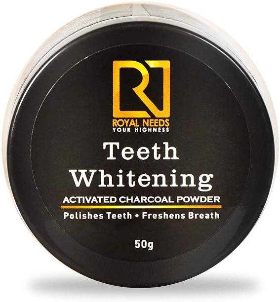 Royal needs coconut shell Activated charcoal Teeth whitening powder enamel safe,minty fresh feel(50g)