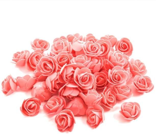 Satyam Kraft Imported ( 50 Pcs ) Foam Artificial flower Roses for tiara making artificial flowers