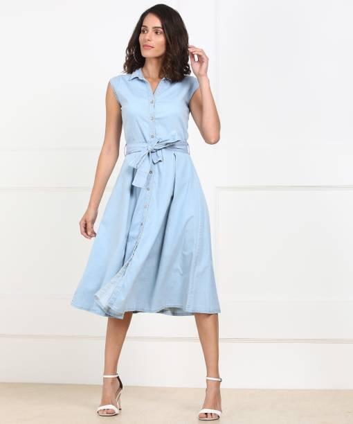 c510de01bbba Knee Length Dresses - Buy Knee Length Dresses Online at Best Prices ...