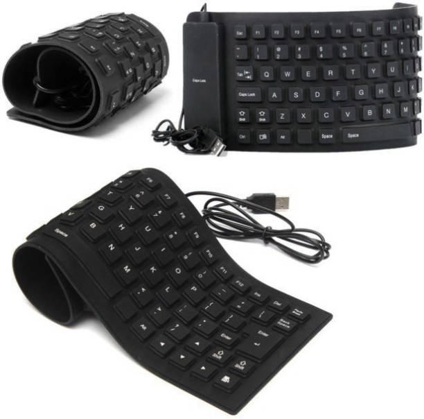 ROQ Set of 3 Premium Series Flexible Foldable Wired USB Laptop Keyboard