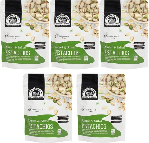 WONDERLAND Jumbo Roasted & Salted Pistachios Nuts 1kg ( Pack of 5-200g Each) Pistachios