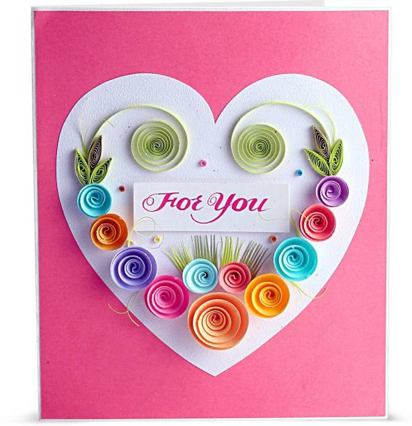 Swapnil Arts Handmade 3D Paper Quilling for You Greeting Card