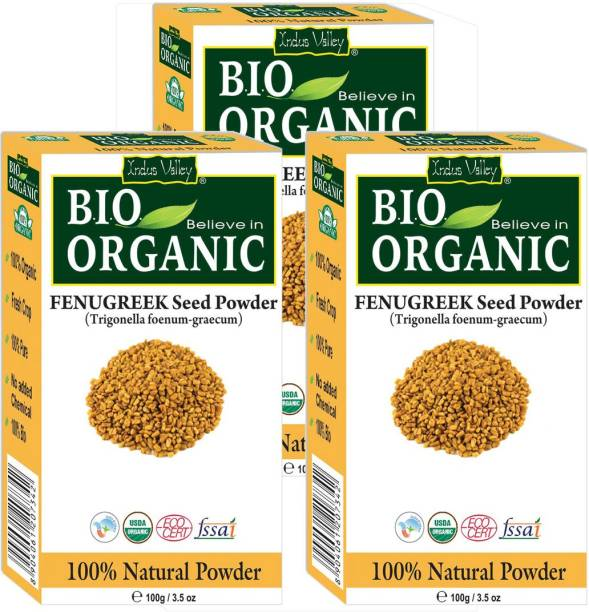Indus Valley 100% Pure Fenugreek Powder (Methi Powder) - Set of 3