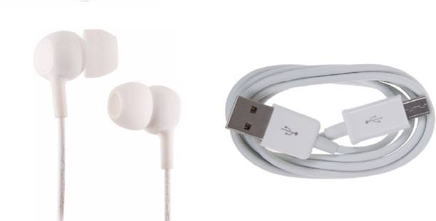 CASVO Headphone Earbud Accessory Combo for All Phones With Micro USB Port. Phones Like Redmi (/Note 4/Note 5 pro/Y2/4/5A/Y1/5/Note 5), Samsung Galaxy( J2 Pro/On Nxt/J7 Max/J2/On7/J7Nxt/J3 Pro/J7 Prime/On8/J5/S7/J4/Grand), Oppo (F7/F3/F5), Motorola Moto( G5S/E5/E4/G5/G6/G4 Plus/C Plus/E3 Power/X play/X Force), Vivo(V9/V7/V7 Plus/V9 youth/V5 plus/Y15/V3), Honor (Holly 4/7C/7A/9 lite/9i), Lenovo (K8Note/K6 Note/Vibe K5 Note/K3 Note/Phab 2)