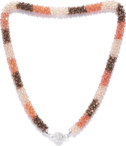 76f9160af308 Jewels Galaxy Luxuria Multicolor Silver Beads Silver Plated Copper Necklace
