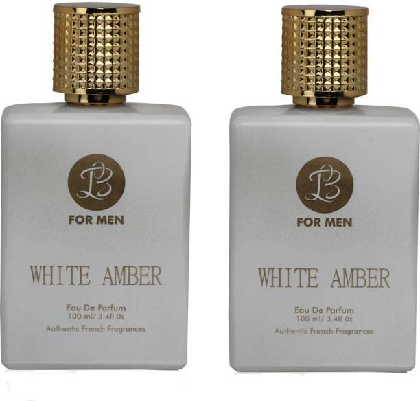 Lyla Blanc WHITE AMBER Perfume Spray for Men- Pack of 2 (100ml each) Eau de Parfum  -  100 ml
