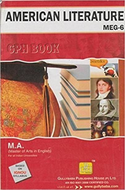MEG6 American Literature English Medium | Guide Helpbook & Question Bank Of Gully Baba Publications