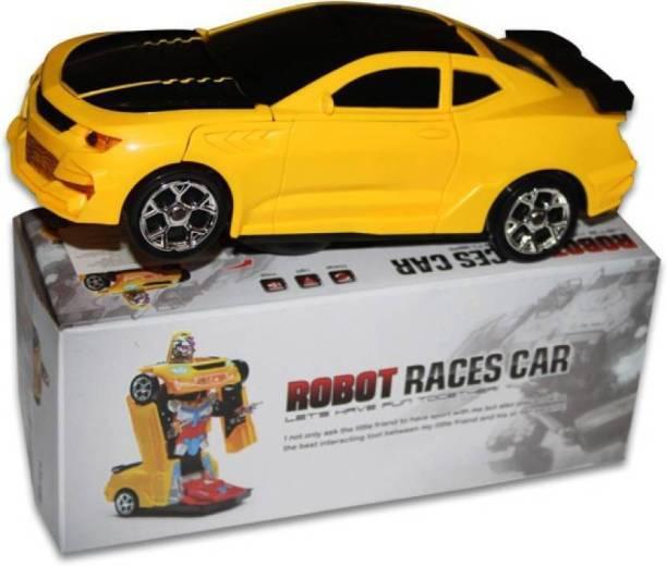 Kids Converting Car to Robot Transformer