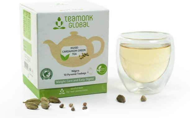 Teamonk Ikusei Cardamom Green Tea Box