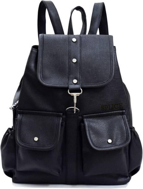 dcf4ad2101 SPLICE PU Leather Backpack School Bag Student Backpack Women Travel bag 6 L  Backpack