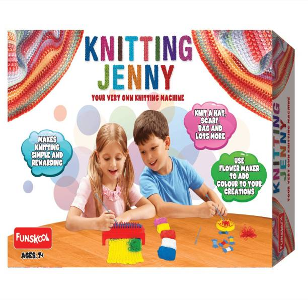 FUNSKOOL Knitting Jenny (Your Very Own Knitting Machine) Party & Fun Games Board Game