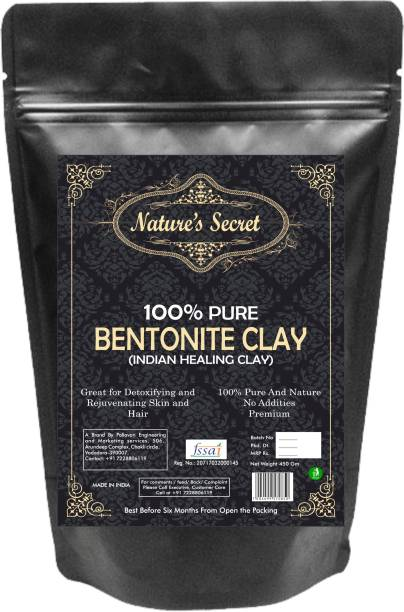 Nature's Secret Bentonite Clay Powder Organic. Use for Clay Mask Detox Etc. Healing Detoxifying Useful on Oily Skin. Cosmetic-grade. Face & Body Detox. Supports Eye Health (450)