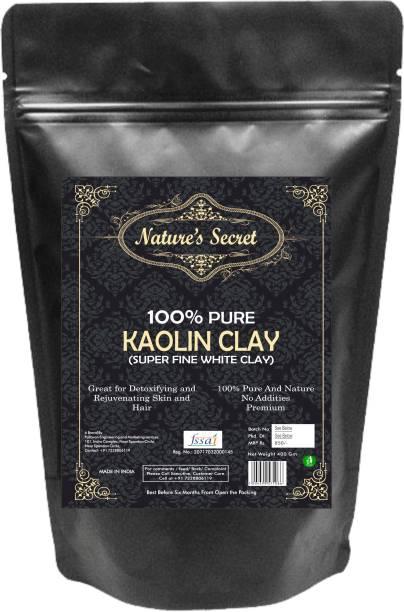 Nature's Secret White Light Kaolin Clay Powder For Skin Face Mask - 400 gm
