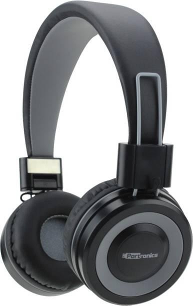 d10f52a6c4d Portronics POR-012 Muffs G Bluetooth 4.2 Stereo Headphone(Grey) Bluetooth  Headset with