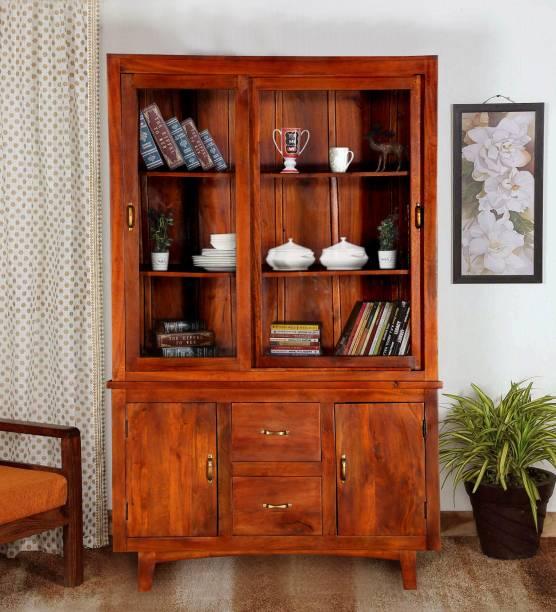 Balaji Wooden Kitchen Solid Wood Crockery Cabinet