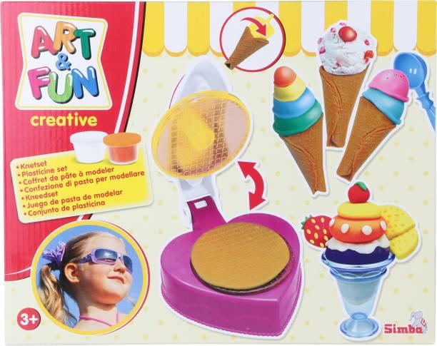 SIMBA Art and Fun Dough Sweet Ice Cream Set
