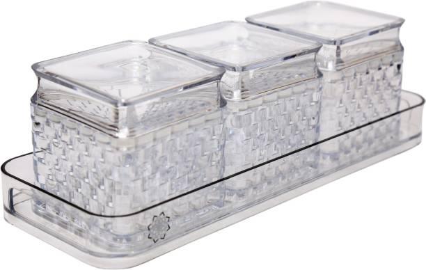 Jaypee Plus Krysta Jar tray Set Container, Tray Serving Set