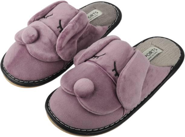 the latest 9b6bf 6aded IRSOE Women Velvet Anti-Slip Soft Bottom Slippers Wool Slip-On Indoor    Outdoor