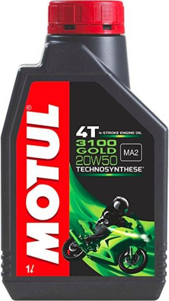 MOTUL 4T 20W-50 Technosynthese Synthetic Blend Engine Oil