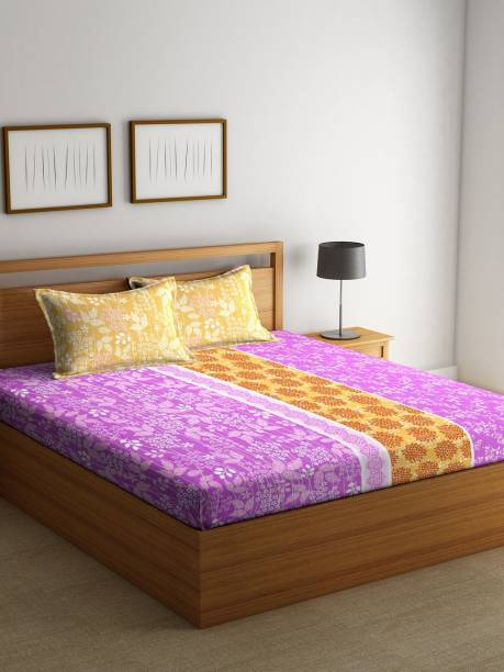 Bombay Dyeing 144 TC Cotton Double Printed Bedsheet