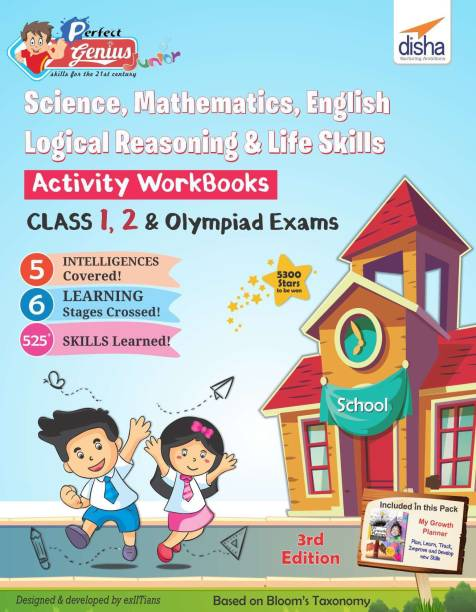 Perfect Genius Junior Activity Workbooks for Science, Mathematics, English, Logical Reasoning & Life Skills for Class 1, 2 & Olympiad Exams 3rd Edition (Ages 6 to 8) - Ages 6 to 8