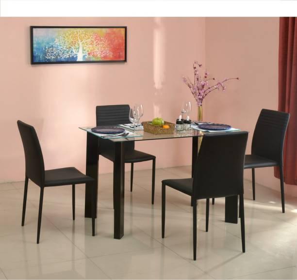 @Home by nilkamal JANET Metal 4 Seater Dining Set