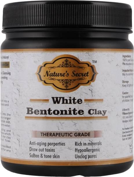 Nature's Secret white Bentonite Clay Powder Organic. Use for Clay Mask Detox Etc. Healing Detoxifying Useful on Oily Skin. Cosmetic-grade. (453 gm / 16 oz / 1 lb) (creamy white)