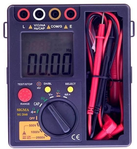 """SIGMA SG 2040 Digital Insulation Tester """"SIGMA 2040"""", 500V, 1000V, 2500VDC, 40GOhm Non-magnetic Electronic Level"""