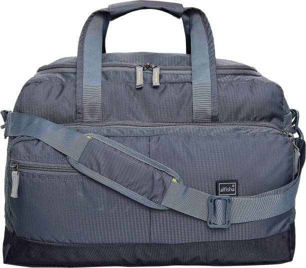 4c5b79ad9c72 alfisha (Expandable) Lightweight Waterproof Luggage Travel Duffel Bag 18  inch - Grey Air Bag