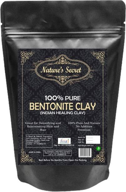 Nature's Secret Bentonite Organic Clay Powder.Healing Detoxifying Useful on Oily Skin.(300gm)