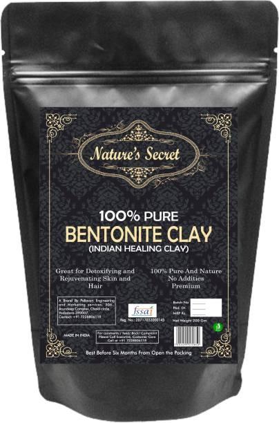 Nature's Secret Bentonite Clay Powder Organic. Use for Clay Mask Detox Etc. Healing Detoxifying Useful on Oily Skin. Cosmetic-grade. Face & Body Detox.