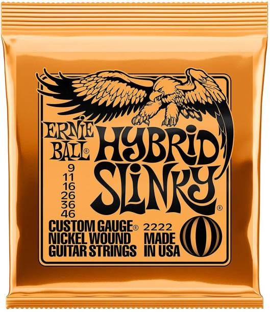 ERNIE BALL Electric 2222 Hybrid Slinky Nickel Wound Set, .009 - .046 Guitar String