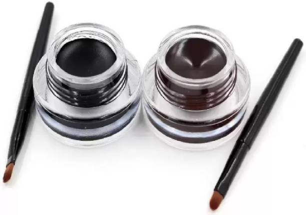 hich 2 in 1 Black & Brown Water Proof & Smudge Proof 24hrs Gel Eyeliner 3+3= 6g