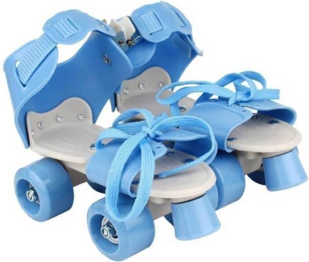 PS Aakriti Skates Shoes For Kids / Childrens - UNISEX In-line Skates Quad Roller Skates - Size 4-8 UK Quad Roller Skates - Size 4--8 UK (Blue) In-line Skates - Size 4-6