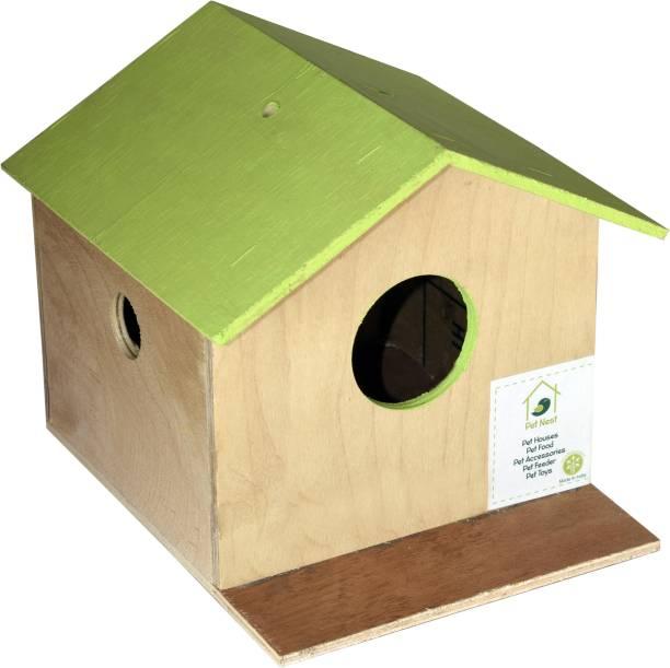 PetNest Bird House Nest Box for Sparrow, Budgies and Finches For Bird Breeding Bird House