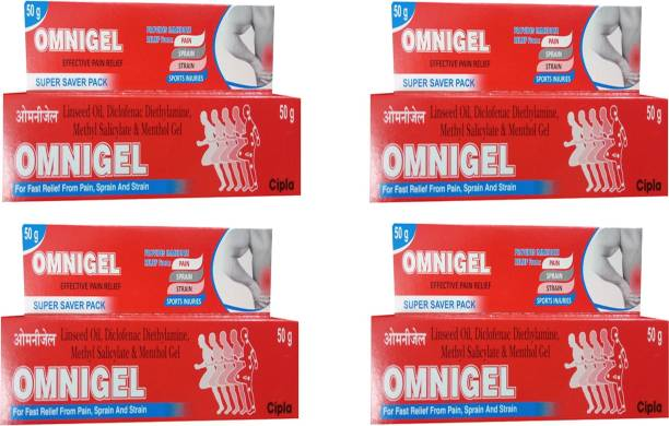 Cipla OMNIGEL PACK OF 4*50 GM Gel