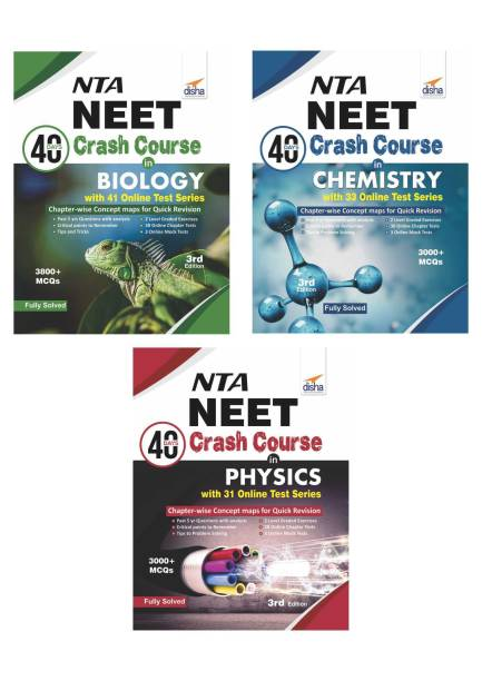 NTA NEET 40 Days Crash Course in Physics, Chemistry & Biology with FREE 5 Mock Test Book 3rd Edition Third Edition