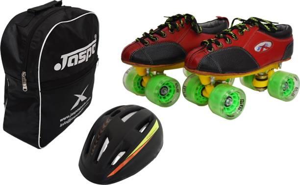 Jaspo Riedel -Power Dual Shoe Skate Combo (Shoe Skate+ Helmet+Bag)(Junior13UK(Foot Length 20.5cms)) Skating Kit