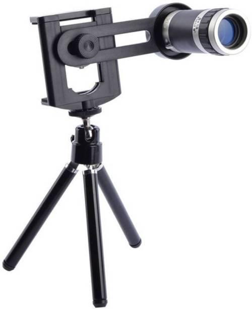 CHG 8x Optical Zoom Tripod Kit With Universal Tripod Mobile Phone  (Wide and Macro)  Lens