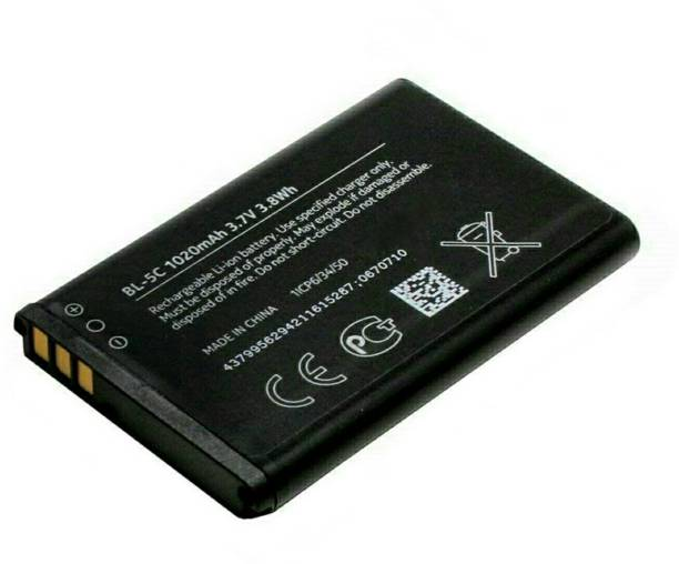 Welcozon Mobile Battery For  Nokia 1020 Mah Models 1100 1101 1110 1110i 1112 1200 1208 1209 1600 1650 1255 1108 1680c 1315 2300 2310 2600 2610 2626 2280 2355 2112 2118 2255 2270 2280 2285 2275 2272 3100 3120 3660 3109 classic 3110 classic 3110 evolve 3600 3610 fold 3650 3105 3125 3620 3555 3109 6030 6085