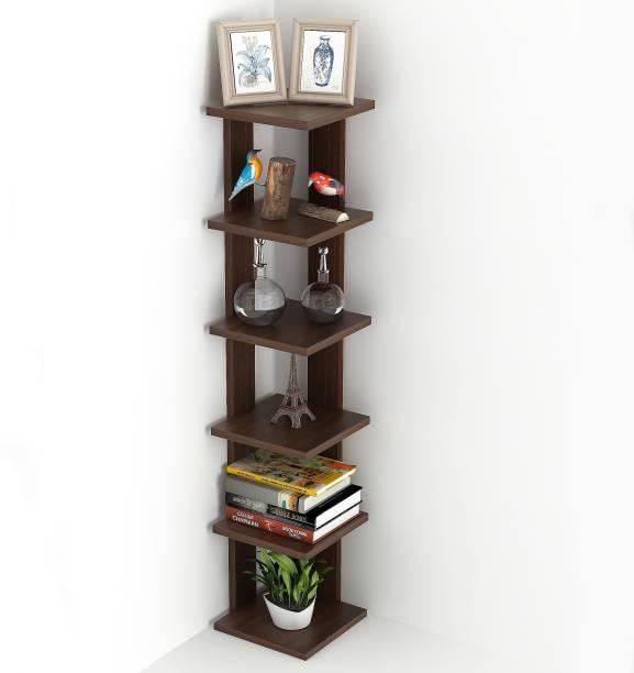 BLUEWUD Engineered Wood Semi-Open Book Shelf